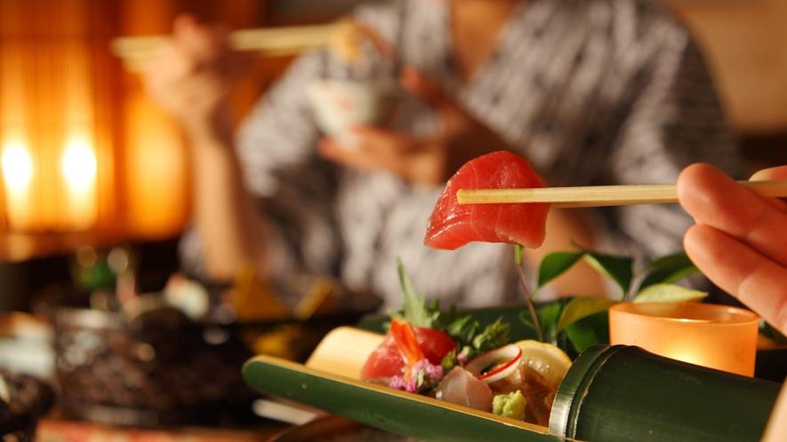 【旬のお刺身】調理長が厳選した近海のお刺身をご提供いたしております※旬の素材により料理内容異なります