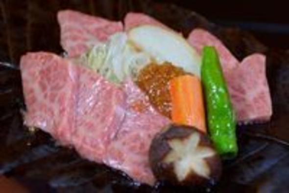 【季節の会席A】ハズせない人気の飛騨牛料理付「朴葉味噌ステーキ/郷土料理」「握り寿司」