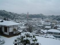 庭園からの景色 冬