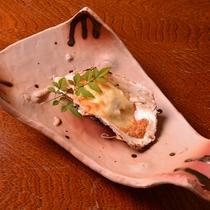 お夕食一例(牡蠣のオーブン焼き)