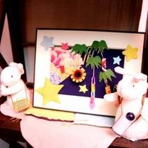 *【館内:オブジェ】女将手作りのかわいらしい小物が至るところにございます。