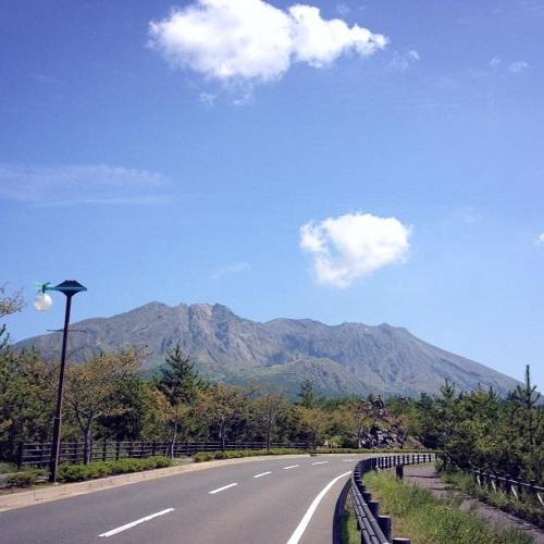 桜島|秋晴れ