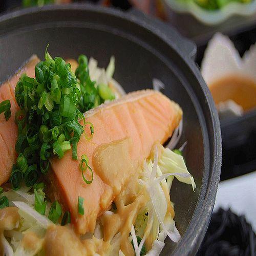 朝食:鱒之介(キングサーモン)のちゃんちゃん焼き