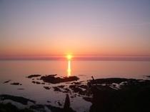 艫作海岸 夕景