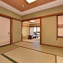 *和室8~10畳+次の間/6名様までご宿泊いただけます。ご家族やグループでご利用下さい。