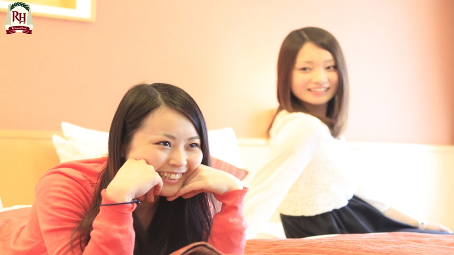 【トリプルルーム】お友達とご一緒にお部屋で楽しいお時間を。