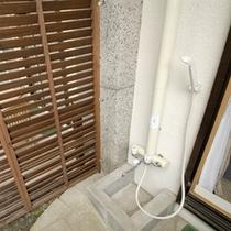 *庭付き洋室ツイン(ワンちゃん用シャワー)