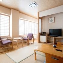 【8畳和室】クチコミでも好評のお部屋は、地デジ・BS放送開始に合わせて倍速液晶テレビを新設しました。