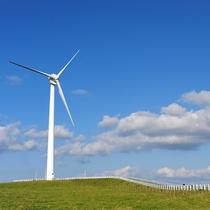 *【周辺観光】稲庭高原の風力発電