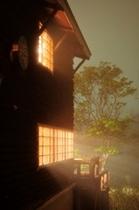 夏の外観(霧)