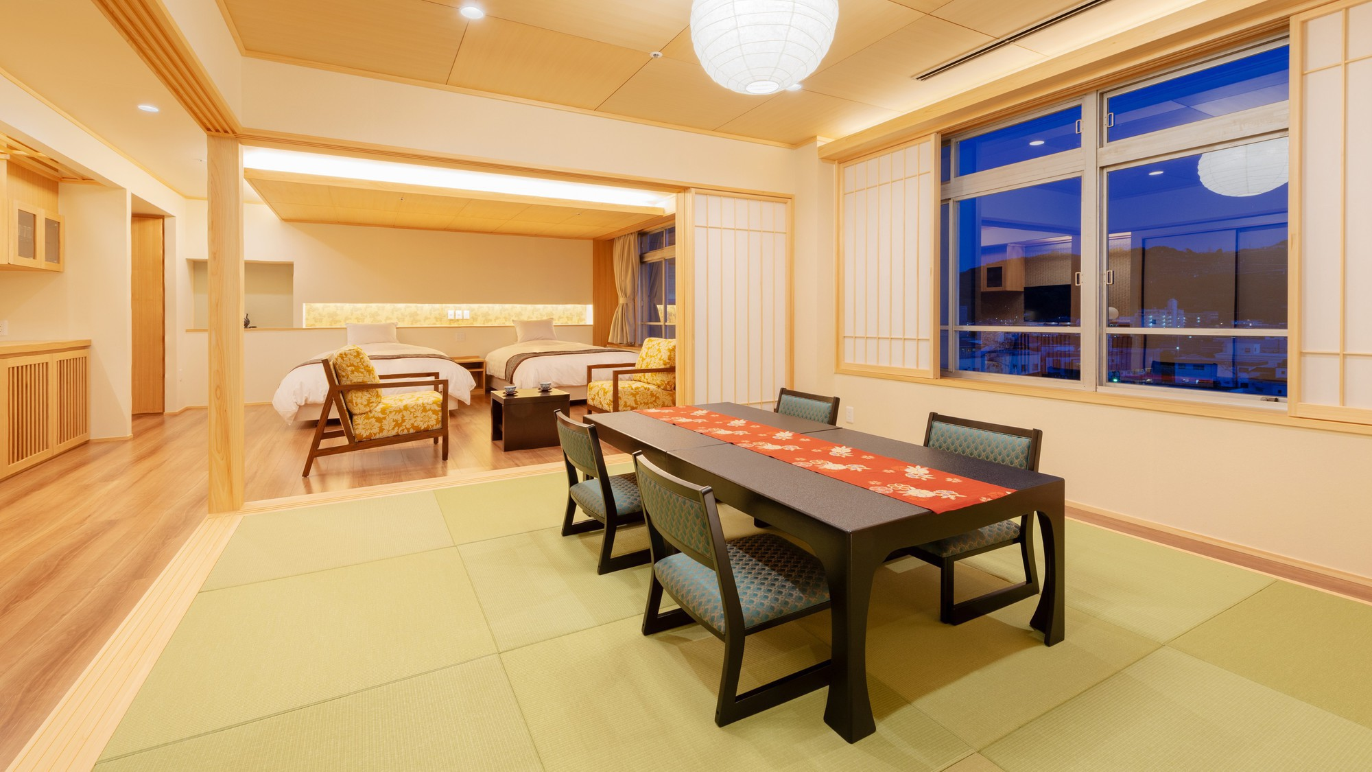 【天誠バリアフリー特別室】土佐ひのきや土佐和紙を使用するなどこだわりの客室