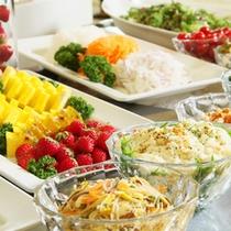 【サラダバー】高知の野菜をいっぱい食べてガッツリ朝食♪