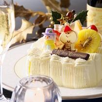 【12月限定クリスマスプラン】当館専属のパティシエが作る『特製クリスマスケーキ』付