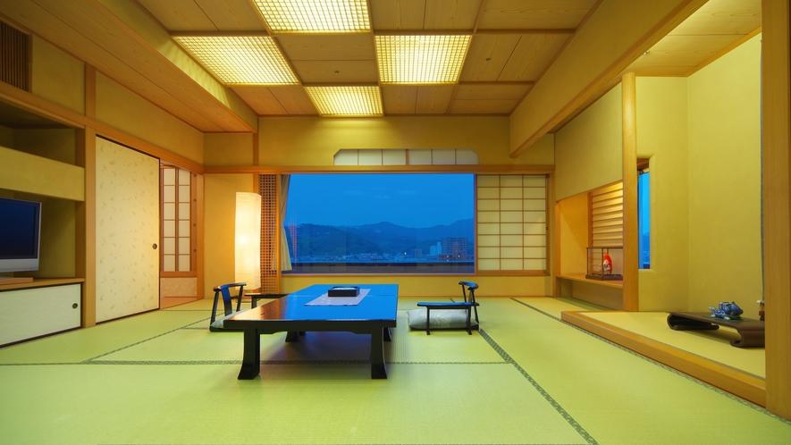 特別室和洋室【和室】和室+洋室(ツインルーム)を備えたゆったり寛げる特別室。
