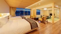 【天誠バリアフリー特別室】土佐ひのきや土佐和紙を使用するなどこだわりの特別室。