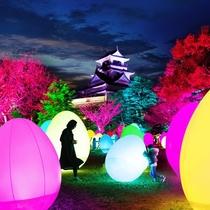 「チームラボ高知城光の祭」チケット付プラン
