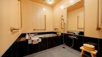 【天誠バリアフリー特別室】洗面台も通常より低い設計で車椅子利用に使いやすい設計に