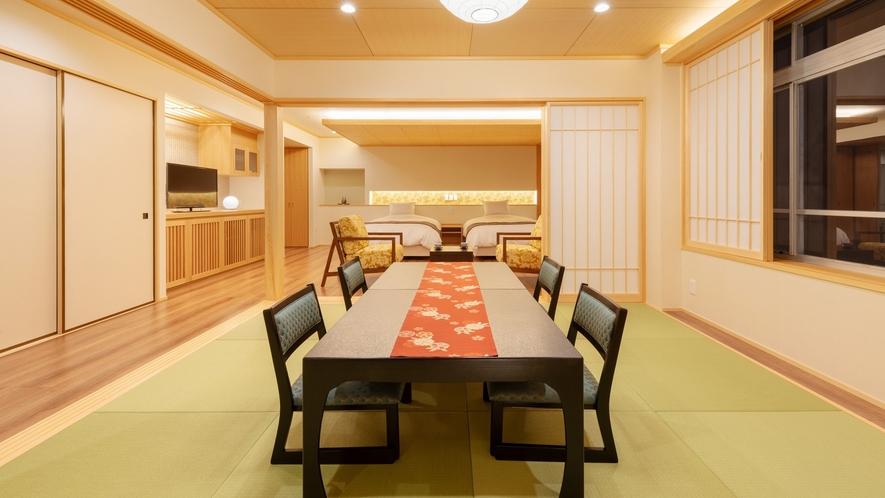 【天誠バリアフリー特別室】土佐ひのきや土佐和紙を使用するなどこだわりの特別室