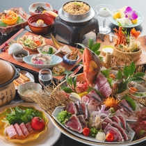 【皿鉢料理と土佐風会席】12~2月の内容となります。