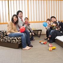 【滞在イメージ】お子様・お孫様の初旅も応援!柔らかい琉球風畳を採用してハイハイも安心です