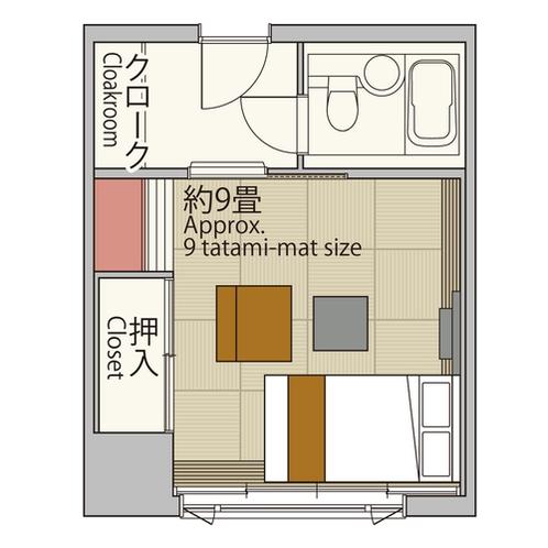 【スタンダードダブル26平米】ワイドなダブルベッドを配して、面倒なくゆったりおくつろぎ。