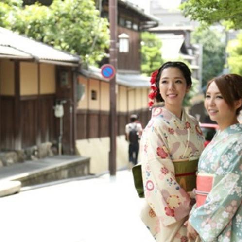 【レンタル着物】女子の憧れ♪着物で京都散策いかがでしょうか。