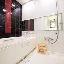【バスルーム】デラックス43平米和モダンの客室はバス・トイレ・洗面台が全て独立したタイプ
