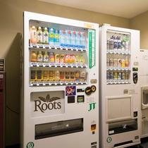 ホテル内に自動販売機エリアを設けています