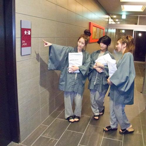 【館内】大浴場はカードキーで入室。セキュリティ万全!