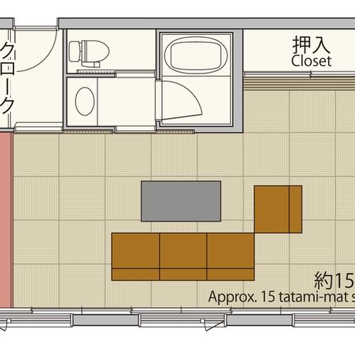 【デラックス43平米】広々とした客室とモダンスタイリッシュな和のデザインを体感