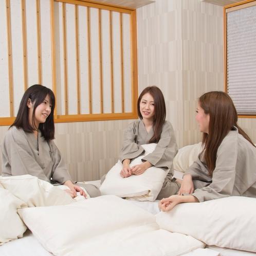 【滞在イメージ】京都観光の後は、大切な仲間と語り合いながら過ごす修学旅行をもう一度。