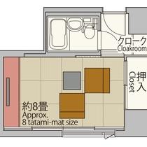 【スタンダード26平米】シティクラス並の客室面積で、4名様までお休みいただけます