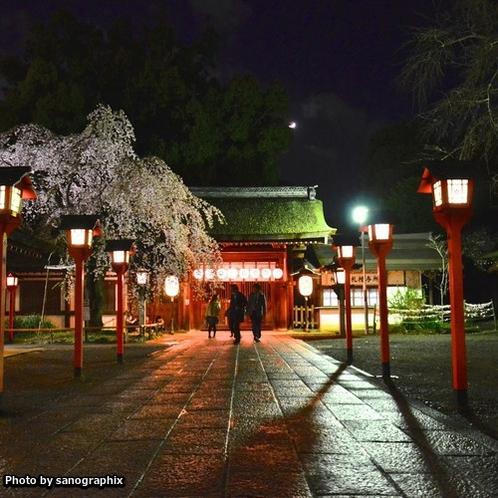 夜の平野神社 Photo by sanographix