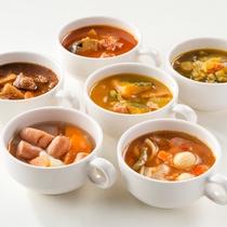 日替わりの6種のスープ