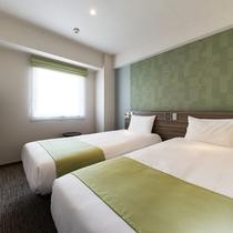 【ツインルーム】シモンズ社製のベッドで快適な睡眠を。(イメージ)