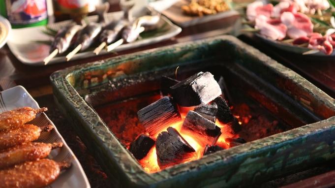 【えな旅得チケット利用】≪戦国料理≫当館名物◆囲炉裏炭火焼き料理が3600円引!