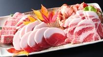 ■【4種のお肉食べ比べ】飛騨牛、恵那山麓寒天そだち三浦豚、恵那地鶏、鹿肉の食べ比べ!※写真は4人前。