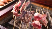 ■【囲炉裏炭火焼き】遠火で香ばしく焼いて召し上がれ。