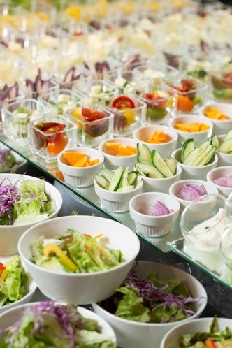 ハーフビュッフェ形式 野菜