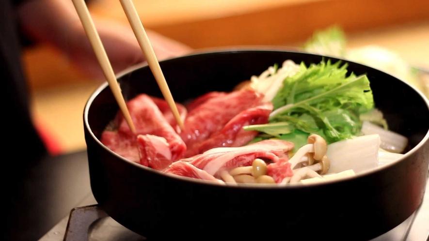 【上州牛すき焼き御膳】群馬名産上州牛と群馬産お野菜