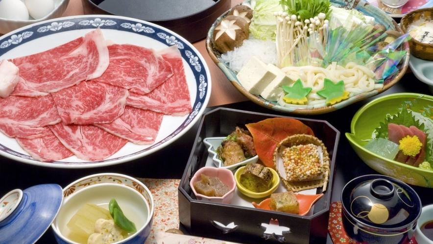 【上州牛すき焼き御膳】大人旅選べる夕食 地酒ペアリングプラン