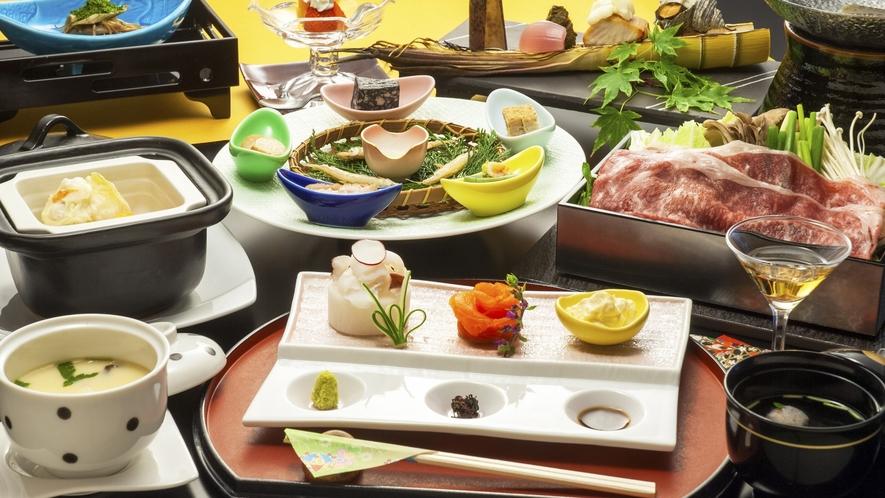 【料理長自慢の旬彩会席】大人旅選べる夕食、旬彩会席プランイメージ
