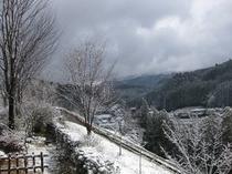 華柚からの雪景色