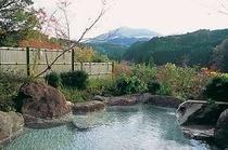 秋の女性用露天風呂