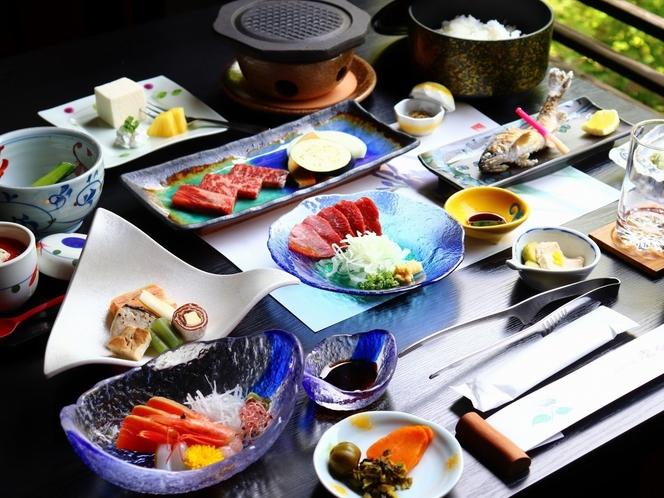 【夕食】スタンダードプラン/熊本産【味彩牛】の溶岩焼き