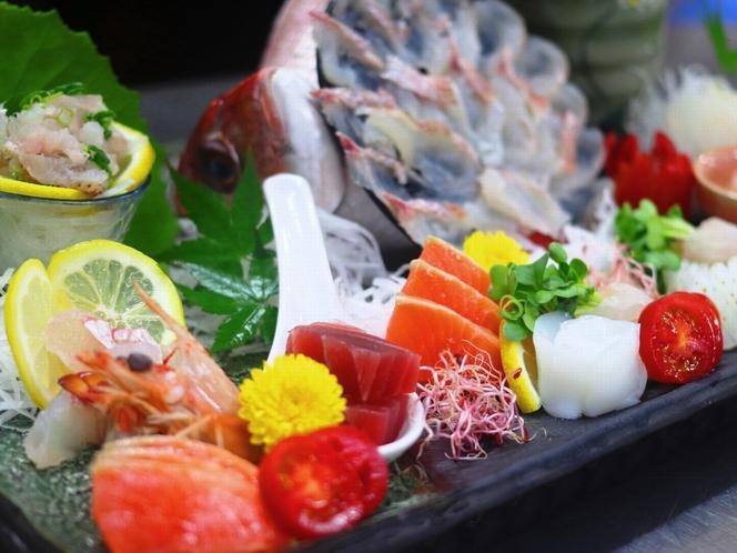 【夕食】グレードアッププラン/お魚の生き造り【例】※画像は二人前