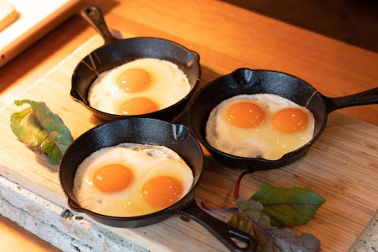 森のレストランMARCHERANT_朝食目玉焼き