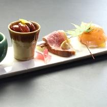 【夕食】前菜一例