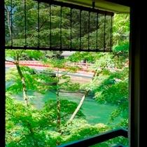 お部屋から望む「回旋橋」。まさに特等席の眺めです