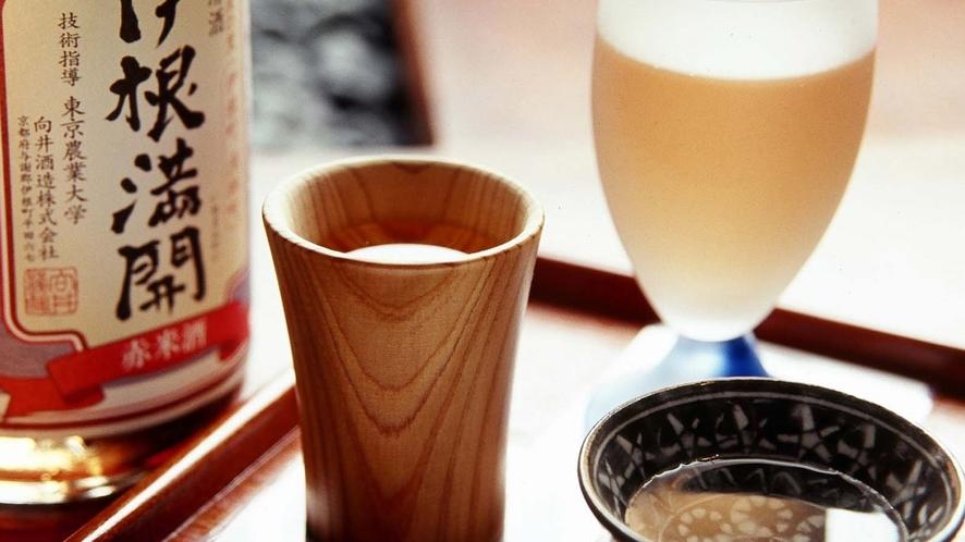 お好きなお酒を3つ選んで飲み比べ・・当館人気の「三名酒」